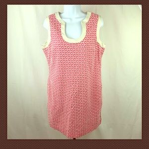 Merona Collection Dress Size 14 Pink and White